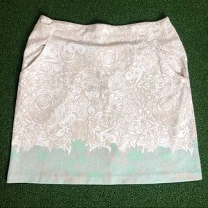 Nike Golf Fit Dry Polyester Skirt Floral Print